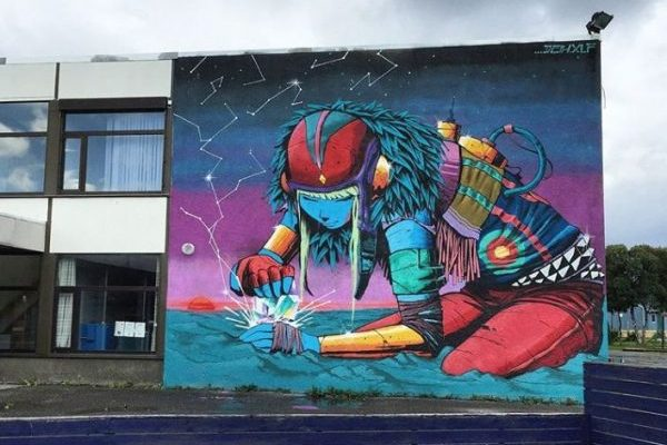 bodo school Norway mural art Deih 2017